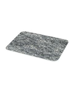grey granite glass worktop saver stock photo 5055361505577