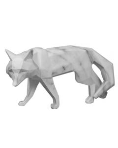 Marble Effect Fox Ornament