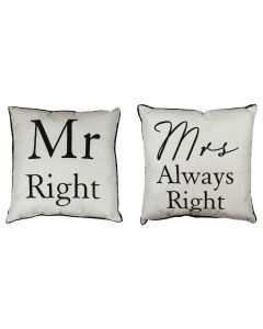 mr right and mrs always right cushions 5017224688568