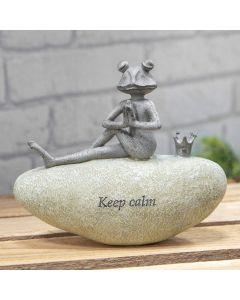 frog keep calm garden ornament 5017224872714