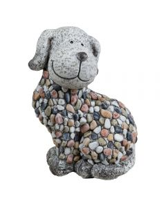 mosaic pebble garden dog ornament