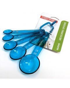 Pedrini Blue Plastic Measuring Spoons Set in mls