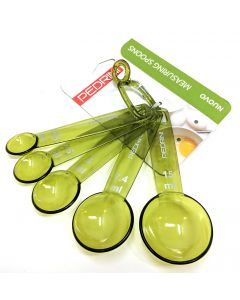 Pedrini Green Plastic Measuring Spoons Set in mls