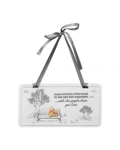Disney Winnie The Pooh and Piglet Rectangle Wall Plaque Nursery Decoration