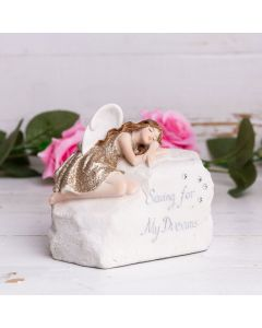 dreams money box angel figurine in-situ 5017224892941