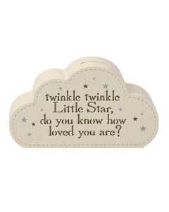 Bambino Baby Twinkle Twinkle Little Star Light Up Money Box Cloud