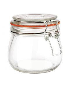 clip top glass jar 500ml stock photo 5060020640407