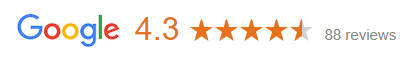 image with google logo and stars representing reviews