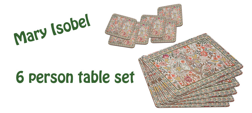mary isobel tablemats set image