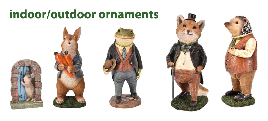 outdoor country living ornaments in stock